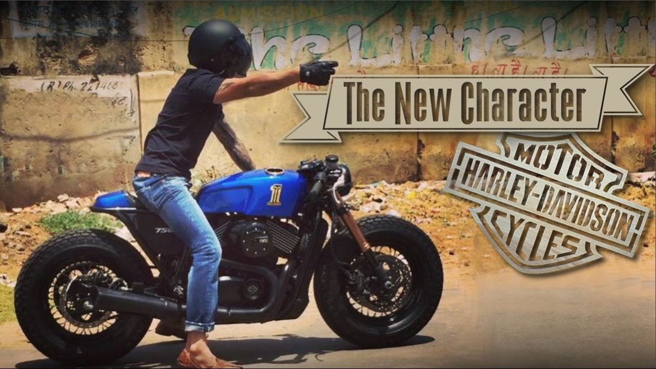 Fabuleux Cafe Racer (Harley Davidson Street 750 by Rajputana Customs) - YouTube LE68