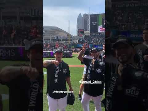 Daddy Yankee Y Anuel Aa All Star Celebrity Softball Game En Cleveland Youtube