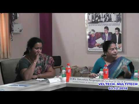 VELTECH MULTITECH  Dr.RR & Dr.SR ENGINEERING COLLEGE  35th  GOVERNING COUNCil - 03.12.2016