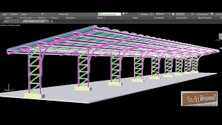Upload วิดีโอสอนเขียนแบบ AutoCAD 3D เขียนโรงจอดรถโครง Truss ตั้งแต่เริ่มต้นจนจบ   by วันชัยติวเตอร์