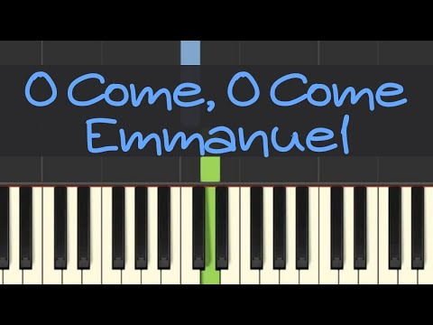 Easy Piano Tutorial: O Come O Come Emmanuel with free sheet music