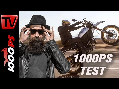 1000PS Test: Ducati Desert Sled 2017 - Cooler als XT500?