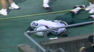 Portland State player tackled by cheerleader after pick six 9-03-1994