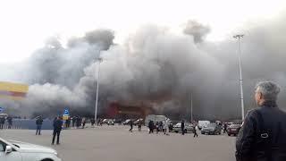 Рынок Синдика Горит. Пожар - начало. 08.10.17