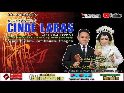 Live Streaming Karawitan CINDE LARAS // CINDE LARAS AUDIO // HVS SRAGEN