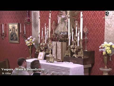 Vespers, Mass (7:30 PM) & Benediction: 6:30 PM EASTERN TIME (ET)