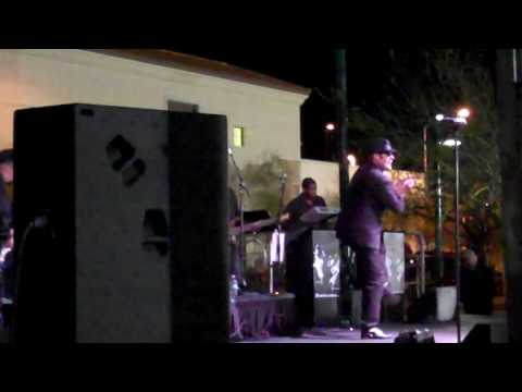 The Bluzmen in Downtown Mesa Az. Featuring the Horn Section (Johnny B. Goode).MP4