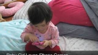 Baby Girl Loves Iphone Games
