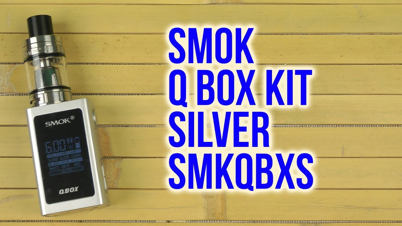 Распаковка Smok Q Box Kit Silver SMKQBXS #1