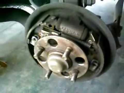 1 of 2 Honda Drum Brake Shoe Service  YouTube