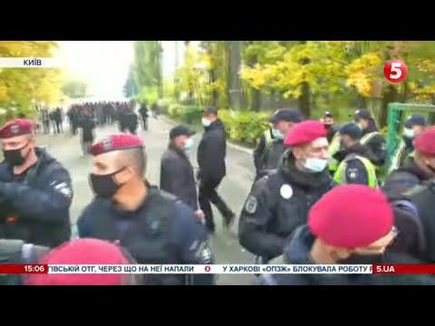 5 канал: Протистояннями між студентами і поліцією: ситуація біля коледжу ім. Піддубного / включення