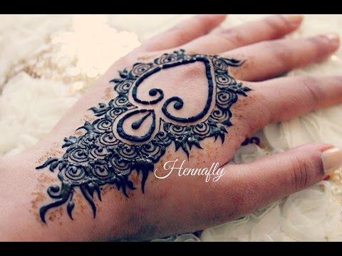Khaleeji Gulf Henna Rose Design Tutorial Henna Design Basics
