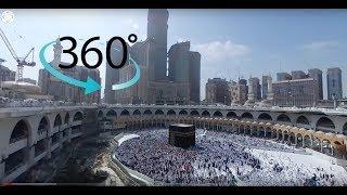 Beautiful Timelapse in Masjid Al-Haram, Khana Kaaba (Tawaf) 360° VR Video 4K