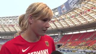 Moscow 2013   Nadine MULLER GER   Discus Throw Women   Qual B