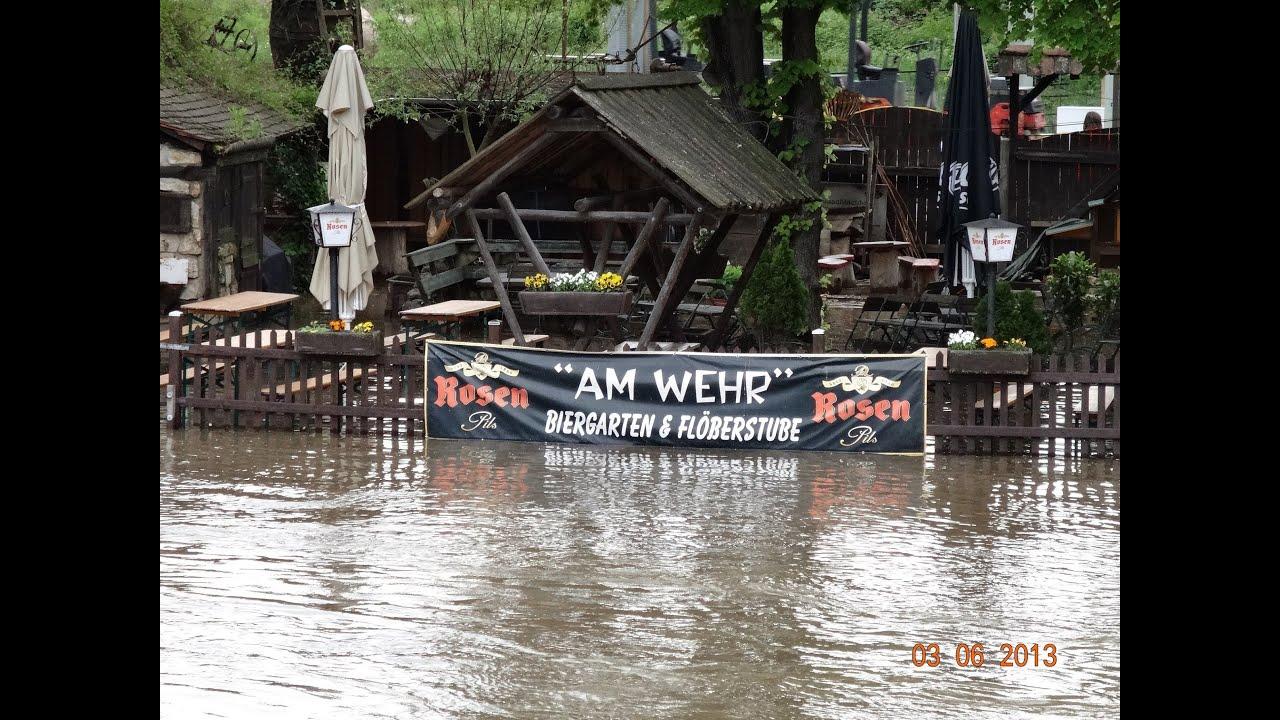 Hochwasser in Jena Thüringen 03 Juni 2013 Alte Burgau ...