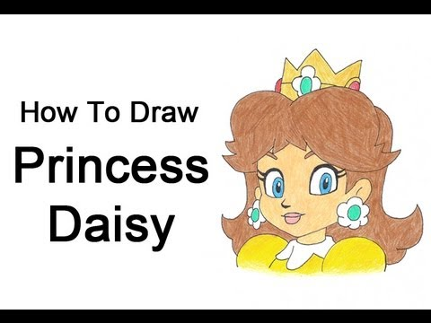 How To Draw Princess Daisy Nintendo Mario Bros