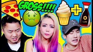 WEIRD Food Combinations People LOVE!!! DIY GROSS FOOD W/ HENRY PRINCE MAK & FUNG BROS