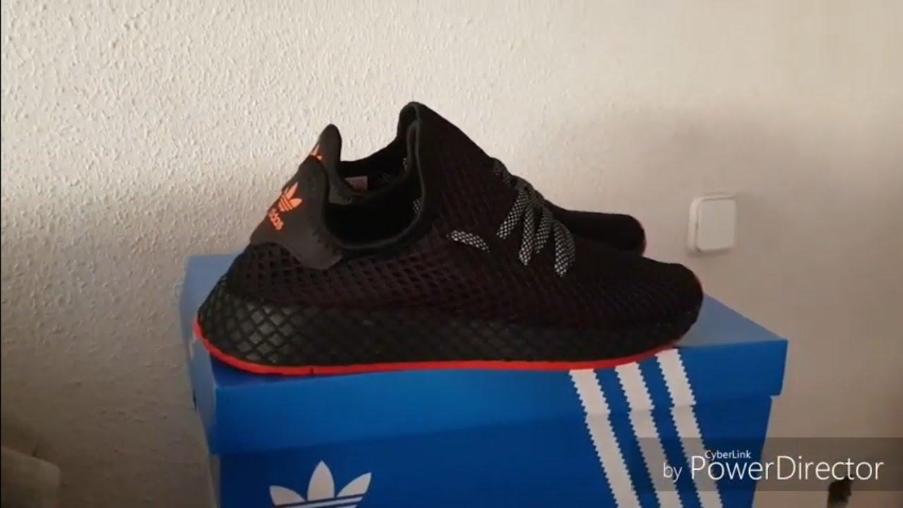 Adidas Deerupt Black ON FEET