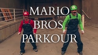Super Mario Brothers Parkour [In Real Life](Watch the sequel, Mario Bros. Parkour 2! - https://youtu.be/drFaO02N5U0 Mario and Luigi doing what they do best: freerunning. Check out the complete song ..., 2013-08-26T16:58:59.000Z)