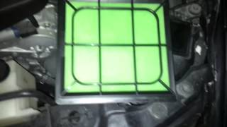 how to hks superhybrid air filter in 350z hr