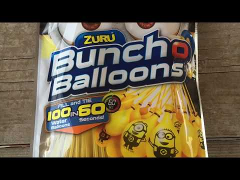 Bunch O Ballons Despicable Me 3 Zuru with Bloopers