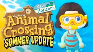 Schwimmen im Sommer-Update! | Animal Crossing: New Horizons (Part 50)