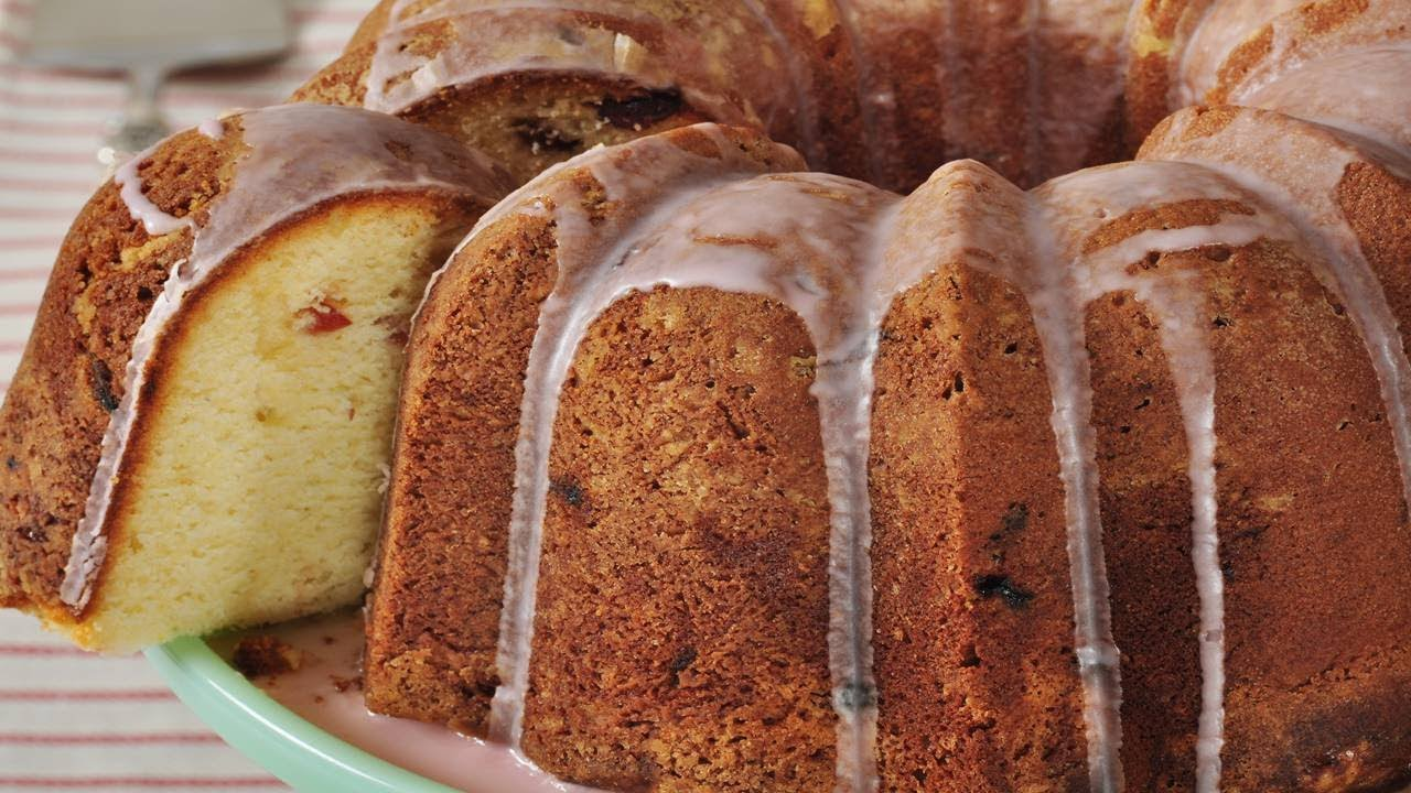 Lemon Cranberry Pound Cake Recipe Demonstration Joyofbaking Com You