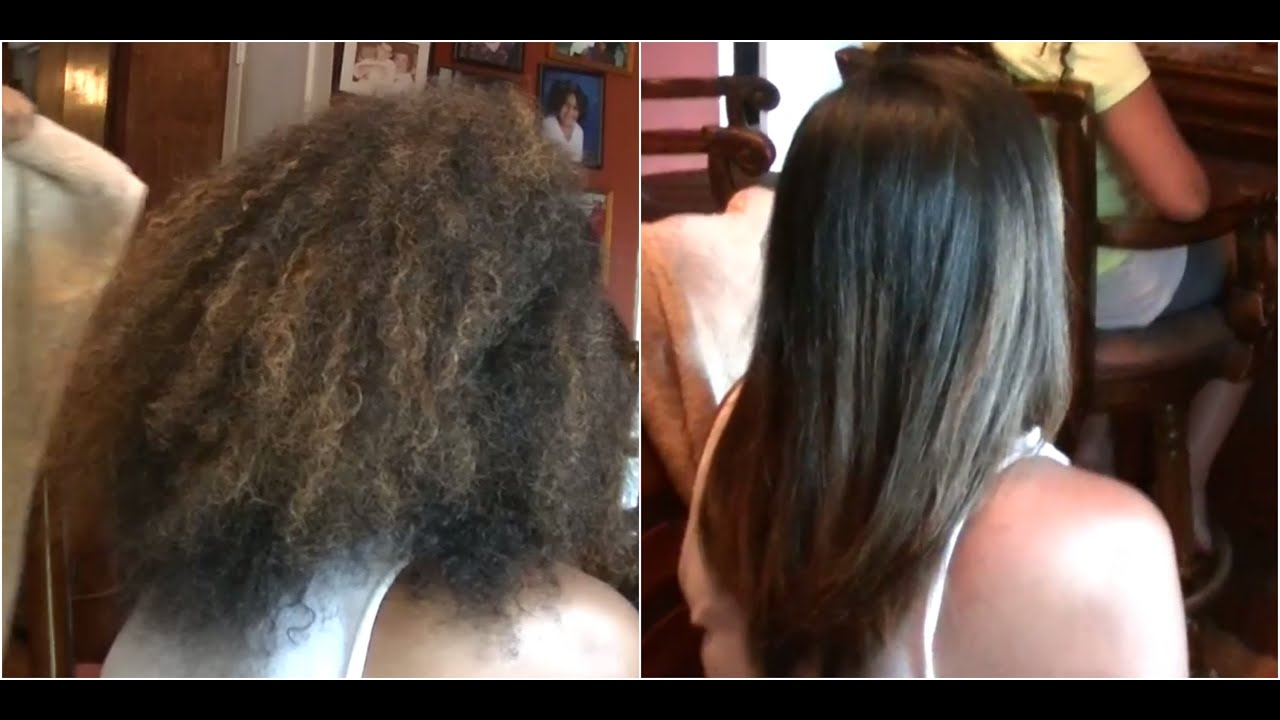Frizz Free Hair Keratin Treatment on Natural Hair