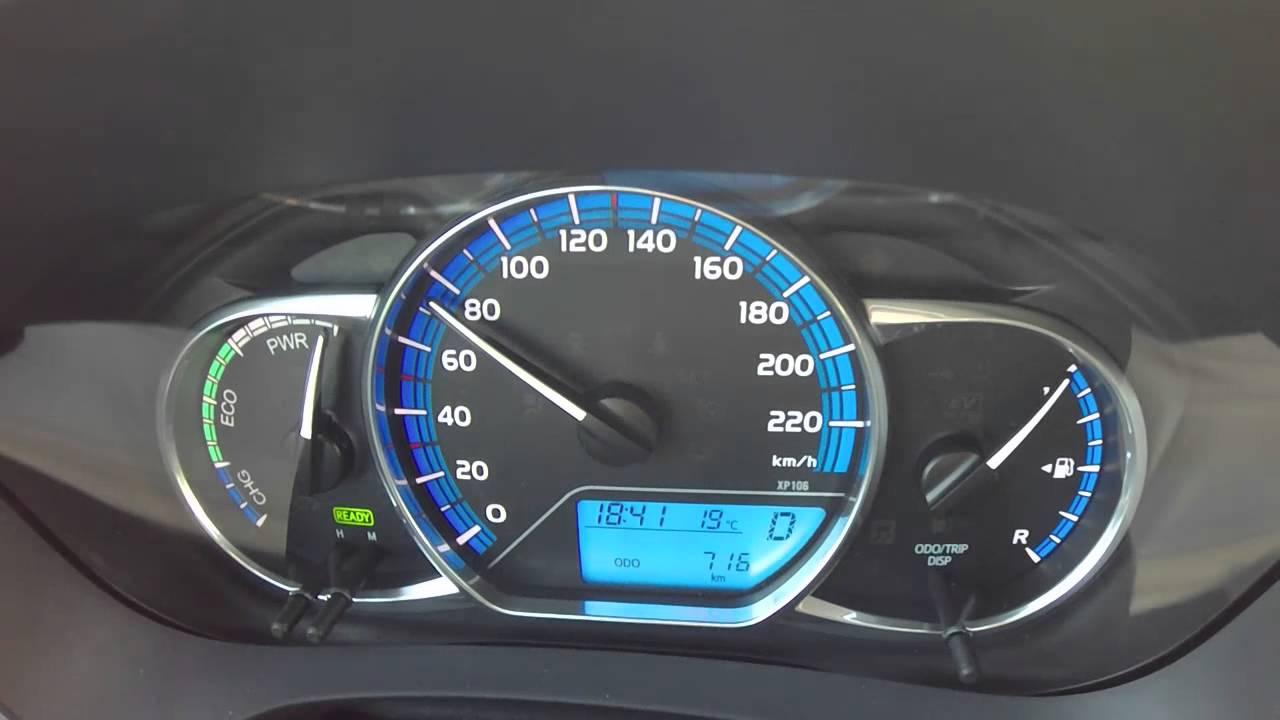 2015 Toyota Yaris Hybrid Facelifting Acceleration 0 100 Youtube