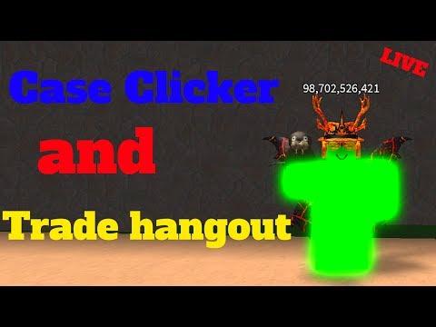 Case Clicker + Trade Hangout! (Roblox Live Stream)