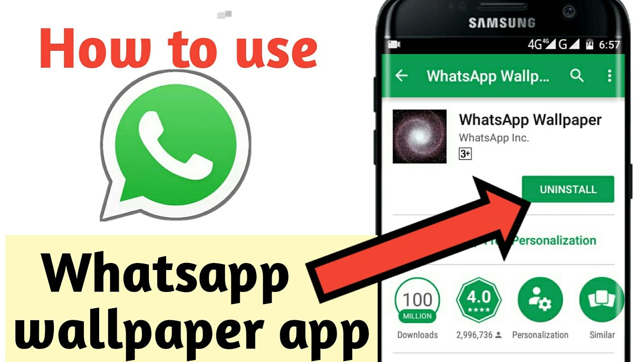 How to use whatsapp wallpaper app