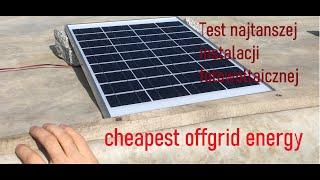 najtanszy zestwa fotowoltaiczny z allegro / cheapest solar setup from china