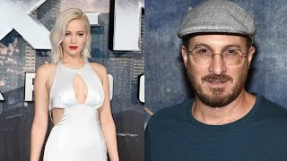Jennifer Lawrence Shares Steamy Kiss With Darren Aronofsky -- See the Pic!