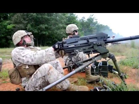 Shooting Machine Guns at TBS (The Basic School) | USMC's newest officers