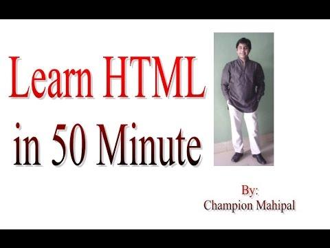 Learn HTML in 50 Minute