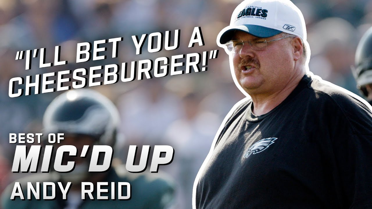 """I'll bet you a cheeseburger!"" Best of Andy Reid Mic'd Up"