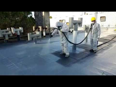 Poliurea su vecchia guaina bituminosa - YouTube