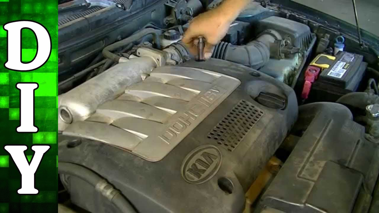 how to remove and replace a valve cover gasket kia spectra 1 8l engine youtube [ 1280 x 720 Pixel ]