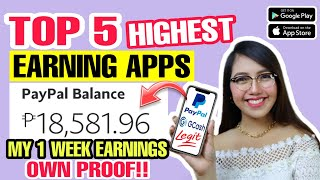 Download lagu TOP 5 LEGIT AND HIGHEST EARNING APP 2021 | I EARNED P18,581 WITH OWN PROOF GCASH AND PAYPAL MONEY