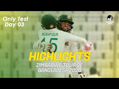 Highlights | Bangladesh vs Zimbabwe | Only Test | Day 3 | Zi