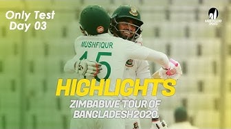 Highlights | Bangladesh vs Zimbabwe | Only Test | Day 3 | Zimbabwe tour of Bangladesh 2020