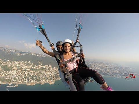 Lebanon - Rita Hayek  Paragliding  - Bhebak Ya Lebnan -   I love you Lebanon
