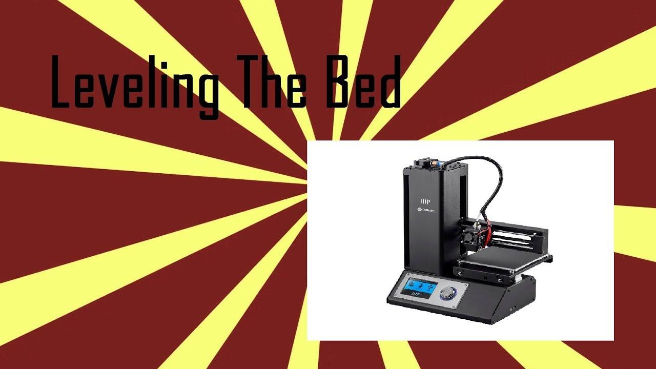 Leveling The Monoprice Select Mini V2 Bed Youtube
