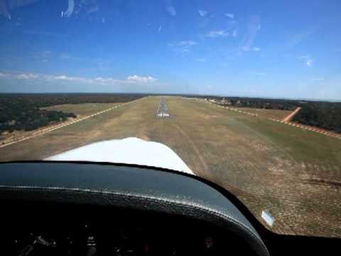 Landing Kasane Airport  Botswana FBKE