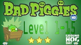 Bad Piggies Level 1-15 World I / Bad Piggies Nivel 1-15 Mundo I