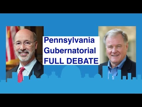"Full Debate | Pennsylvania's governor race | with ""Jeopardy' host Alex Trebek as moderator"
