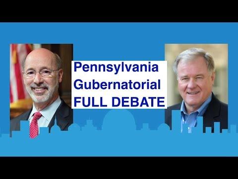 "Full Debate | Pennsylvania's governor race | with ""Jeopardy' host Alex Trebek as moderator"