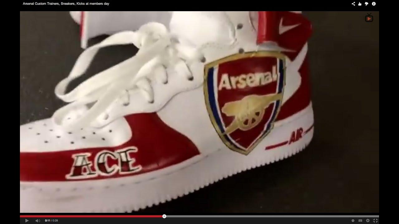 Arsenal Custom Trainers, Sneakers
