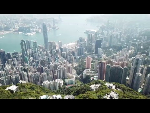 LIVE: Drone over Hong Kong