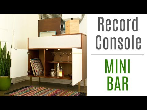 How to Build a Record Console / Minibar - Woodworking Build
